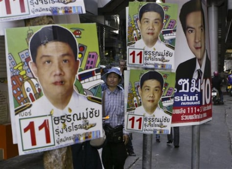 Image: Thai campaign posters