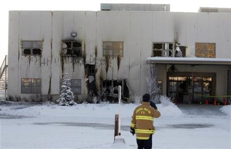 Image: Palin church fire