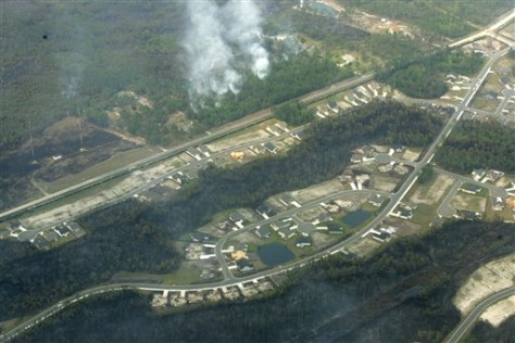 Image: Aerial of fire destruction