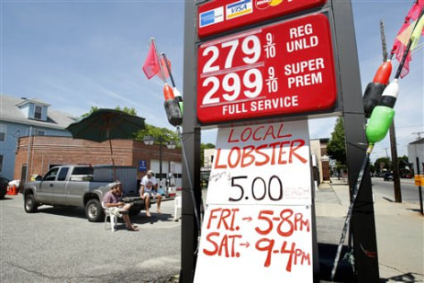 Image: Roadside lobster sales