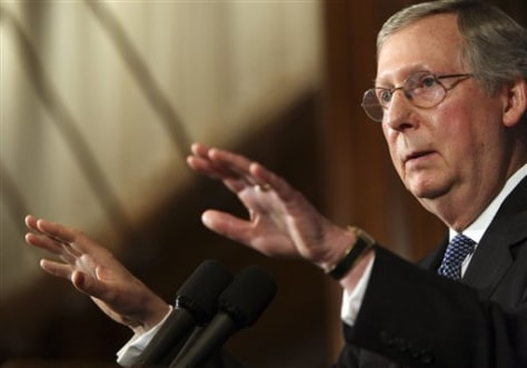 Image: Senate Minority leader Mitch McConnell, R-Ky.