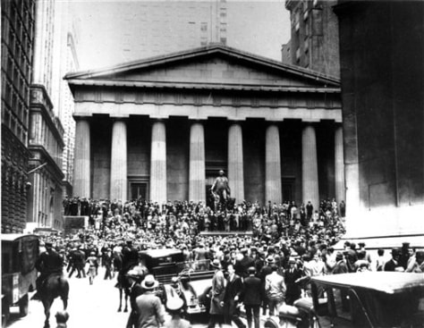 Image: Outside NYSE on Oct. 24, 1929.