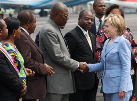 Image: Hillary Clinton in Congo