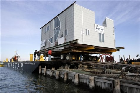 Image: House atop barge