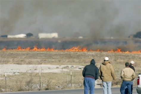 IMAGE: GRASS FIRE IN TEXAS