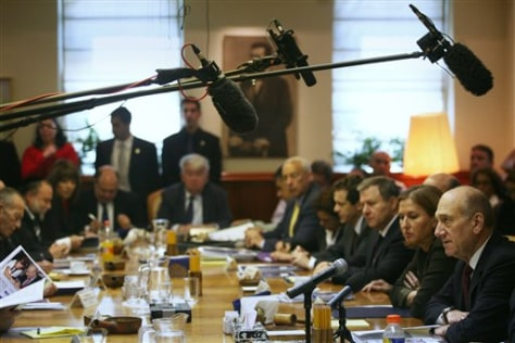Image: Weekly cabinet meeting in Israel