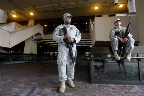 Image: National Guardsmen at Superdome
