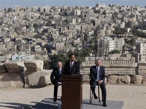 Image: Obama at Jordan news conference
