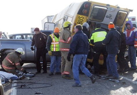 IMAGE: School bus crash site