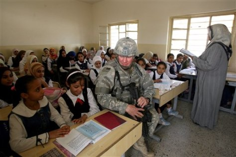 IMAGE: U.S. SOLDIER VISITS IRAQ SCHOOL