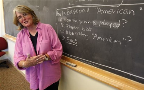 Image: Teacher at baseball class