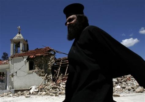 Image: Greece quake damage