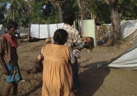 Image:Scene of attack on Sri Lankanhospital
