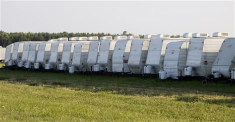 Image: Temporary mobile homes
