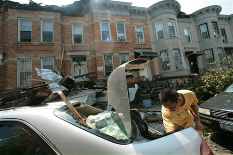 IMAGE: TWISTER DAMAGE IN BROOKLYN