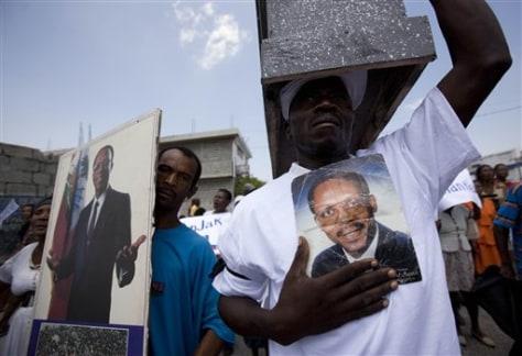 APTOPIX Haiti Protest