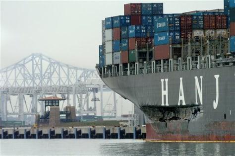 IMAGE: DAMAGED CARGO SHIP
