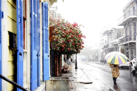 Image: Snow in French Quarter