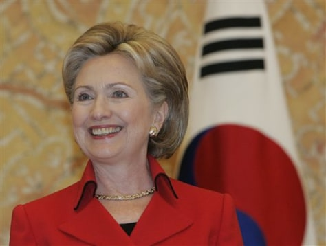 Image: Hillary Clinton in Seoul