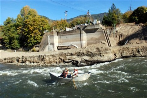 Image: Rogue River where dam used to be