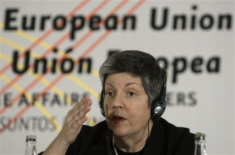 Image: Janet Napolitano in Spain