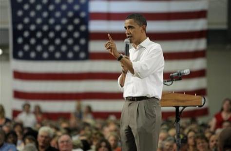 Image: Obama speaks in Mo.