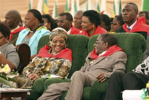 Image: Robert Mugabe at his birthday bash