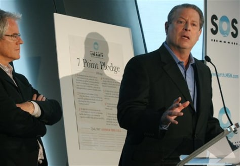 IMAGE: AL GORE AND LIVE EARTH FOUNDER