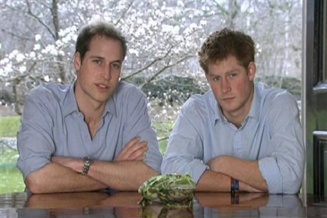 Image: Prince William, Harry and forest frog