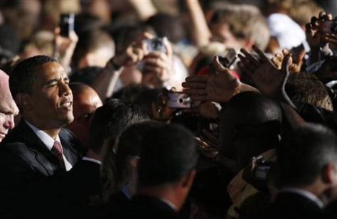 Image: President Obama greets crowd