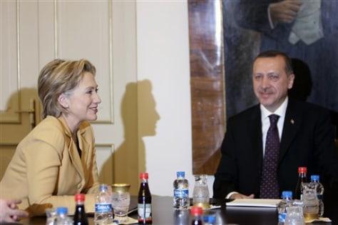 Image: Hillary Rodham Clinton, Tayyip Erdogan
