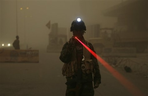 IMAGE: SOLDIER IN SANDSTORM