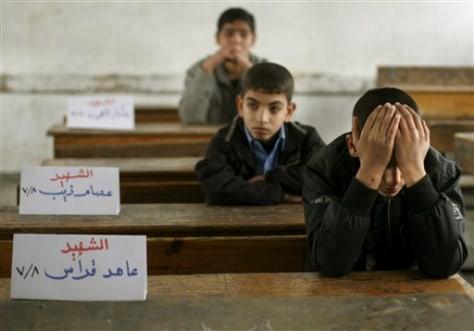 Image: Boys in school