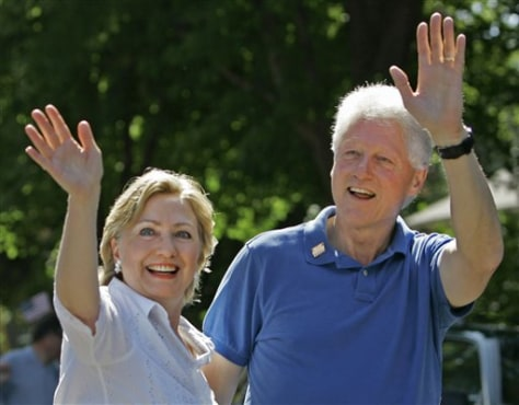 IMAGE: Bill and Hillary Clinton