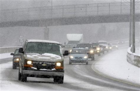 Image: Winter snow in Ohio