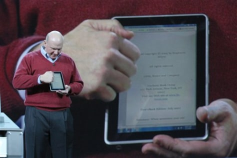 Image: Steve Ballmer with HP tablet prototype