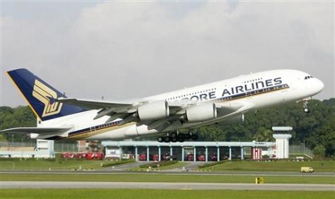 Singapore Britain A380