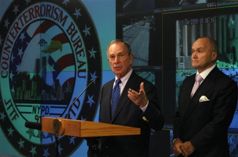 Image: Mayor Michael Bloomberg, and New York police Commissioner Raymond Kelly