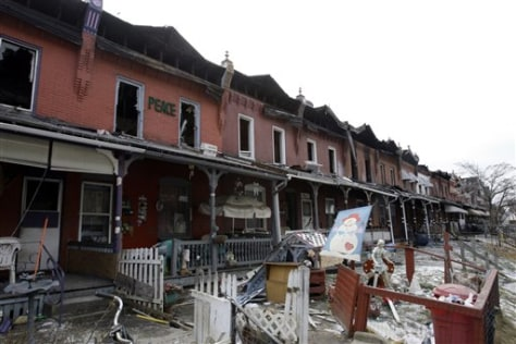 Image: Fire-damaged homes