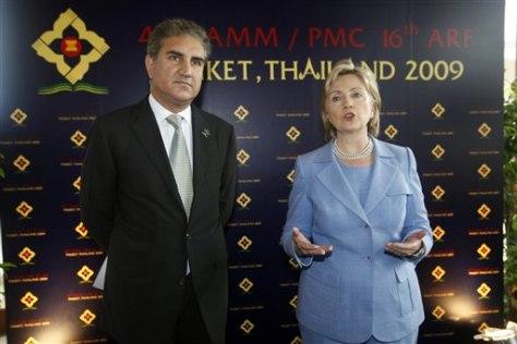 Image: Shah Mahmood Qureshi, Hillary Rodham Clinton