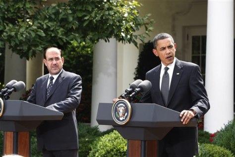 Image: President Barack Obama and Iraqi Prime Minister Nouri al-Maliki