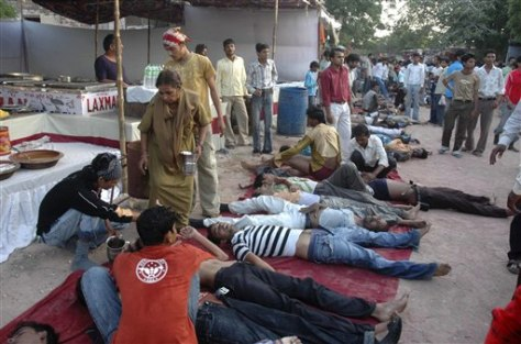 Image: People injured in stampede.
