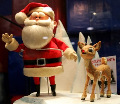 Image: Rudolph and Santa Claus