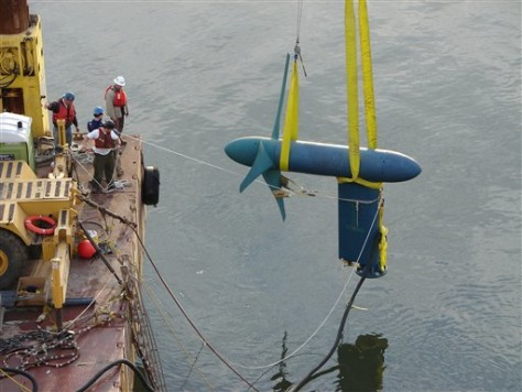IMAGE: TURBINE PLACED IN WATER
