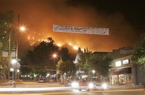 IMAGE: FIRE NEAR SIERRA MADRE