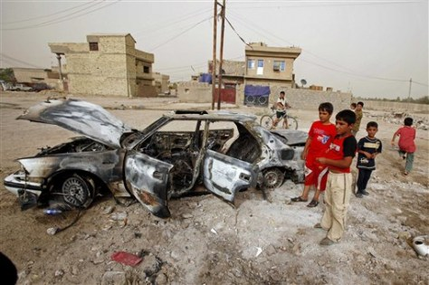 Image: Aftermath of a car bomb