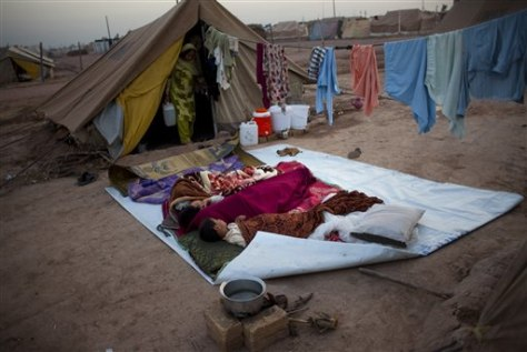 Image: Pakistan displacement camp