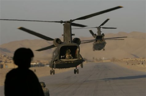 Image: U.S. helicopter in Afghanistan