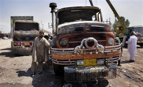 Image: Half burnt truck