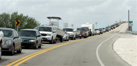 Image: Cars leaving Key West